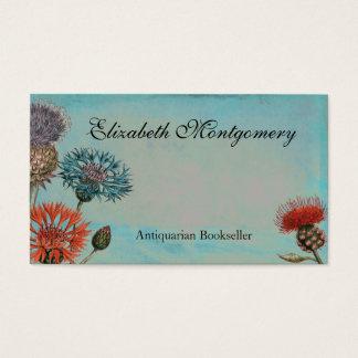 ヴィンテージの花の専門の名刺 名刺