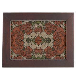 ヴィンテージの花の抽象芸術パターン 宝箱