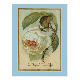 ヴィンテージの花の新年 ポストカード