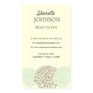 ヴィンテージの花の柔らかい中立美容師カード スタンダード名刺