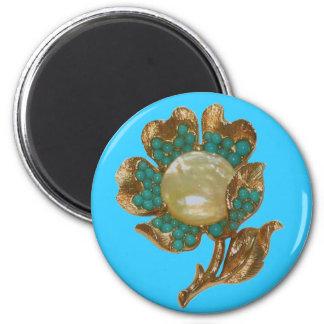 ヴィンテージの花の磁石 マグネット