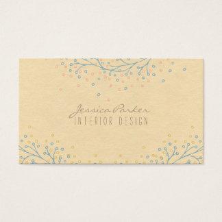 ヴィンテージの花の素朴でモダンなクラフト紙 名刺
