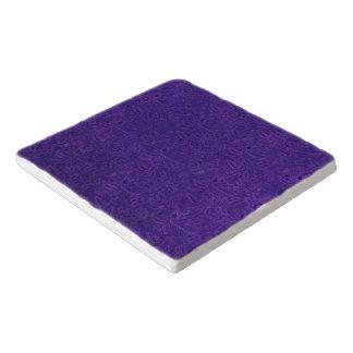 ヴィンテージの花の紫色の紫色 トリベット