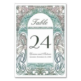 ヴィンテージの花の結婚式のテーブルはIVに番号を付けます(V.1) カード