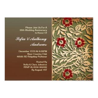 ヴィンテージの花の結婚記念日 カード