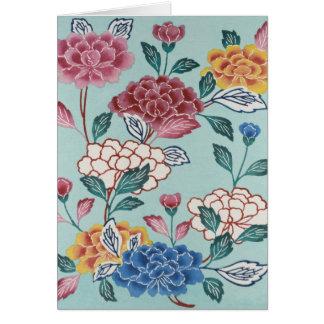ヴィンテージの花の絵画の挨拶状 カード