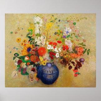 ヴィンテージの花の絵画ポスター ポスター