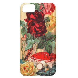 ヴィンテージの花及び裁縫のiPhoneの場合 iPhone5Cケース