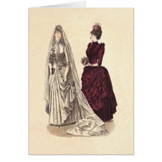 ヴィンテージの花嫁の結婚式の女性 カード