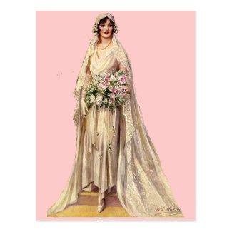 ヴィンテージの花嫁 葉書き