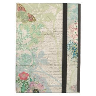 ヴィンテージの花柄のコラージュ iPad AIRケース