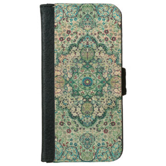 ヴィンテージの花柄のペルシャ絨毯の動機 iPhone 6 ウォレットケース