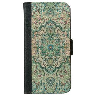 ヴィンテージの花柄のペルシャ絨毯の動機 iPhone 6/6S ウォレットケース