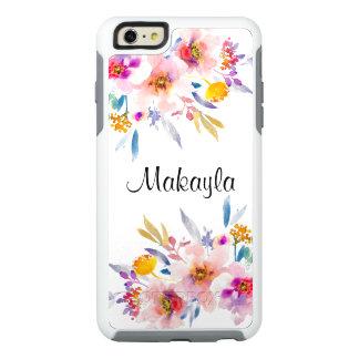 ヴィンテージの花柄の水彩画 オッターボックスiPhone 6/6S PLUSケース