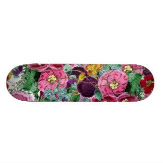 ヴィンテージの花柄の集り オリジナルスケートボード