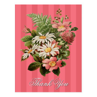 ヴィンテージの花柄は個人化なります感謝していしています ポストカード