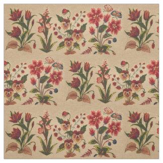 ヴィンテージの花柄パターン ファブリック