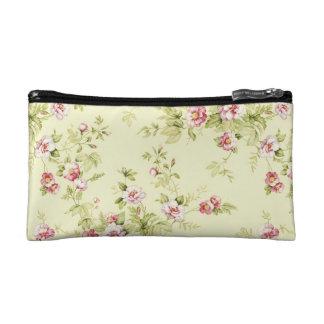 ヴィンテージの花柄 コスメティックバッグ