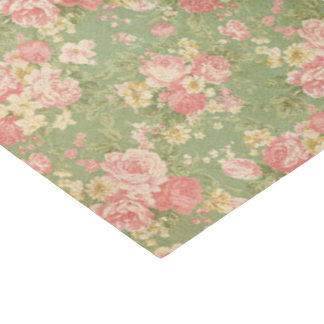 ヴィンテージの花柄 薄葉紙