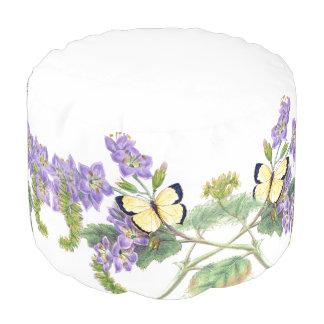 ヴィンテージの花植物の蝶花 プーフ