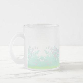 ヴィンテージの花模様のマグ フロストグラスマグカップ