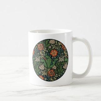 ヴィンテージの花模様の壁紙粋なMorrisコンプトン コーヒーマグカップ