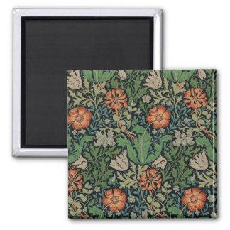 ヴィンテージの花模様の壁紙粋なMorrisコンプトン マグネット