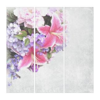 ヴィンテージの花 トリプティカ