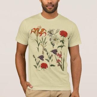 ヴィンテージの花 Tシャツ