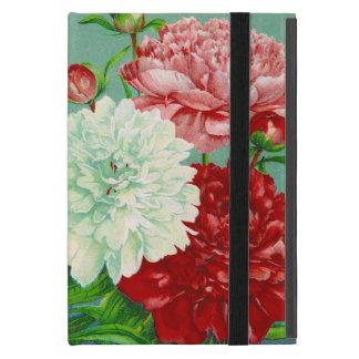 ヴィンテージの芸術のヴィンテージの花柄のシャクヤク iPad MINI ケース