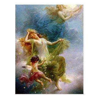 ヴィンテージの芸術の天の天使の郵便はがき ポストカード