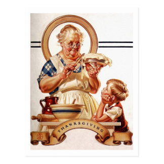 ヴィンテージの芸術の感謝祭の郵便はがき 葉書き