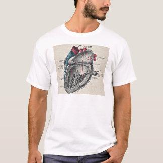 ヴィンテージの芸術の解剖ハートの図表-科学 Tシャツ