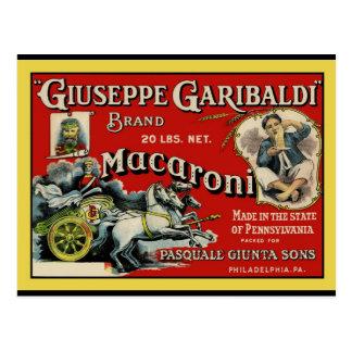 ヴィンテージの芸術マカロニのラベルポスター ポストカード
