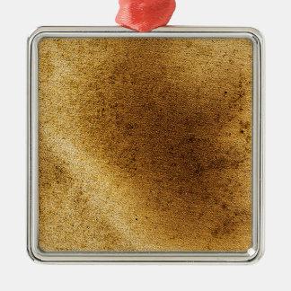 ヴィンテージの芸術的な金ゴールドの茶色の動揺してなキャンバス メタルオーナメント