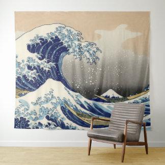 ヴィンテージの芸術神奈川を離れた素晴らしい波 タペストリー