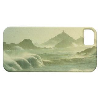 ヴィンテージの芸術、コルシカの霧深いLesのiles Sanguinaires iPhone SE/5/5s ケース