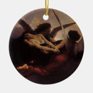 ヴィンテージの芸術、精神はBouguereauによって天国に持って来ました セラミックオーナメント
