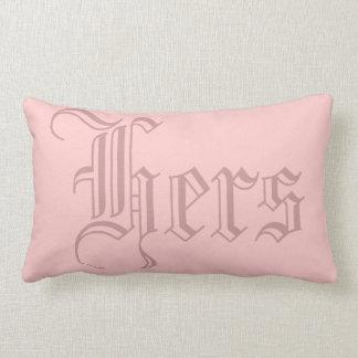 ヴィンテージの英国のピンクのガーリーな名前入り ランバークッション