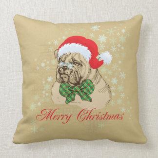 ヴィンテージの英国のブルドッグのクリスマスの装飾用クッション クッション