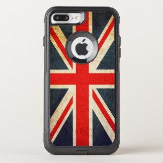 ヴィンテージの英国国旗のイギリスの旗のiPhone 7のプラスの場合 オッターボックスコミューターiPhone 8 Plus/7 Plusケース