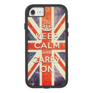 ヴィンテージの英国国旗の旗は平静を保ち、続けていきます Case-Mate TOUGH EXTREME iPhone 7ケース