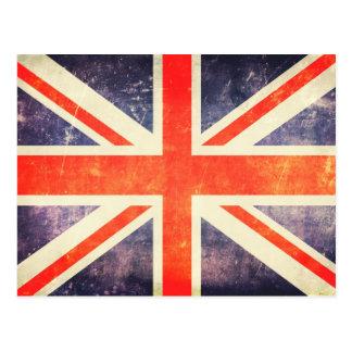 ヴィンテージの英国国旗の旗 ポストカード