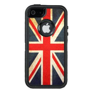 ヴィンテージの英国国旗イギリスの旗 オッターボックスディフェンダーiPhoneケース