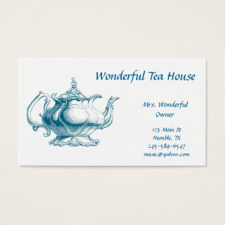 ヴィンテージの茶ポットの名刺 名刺