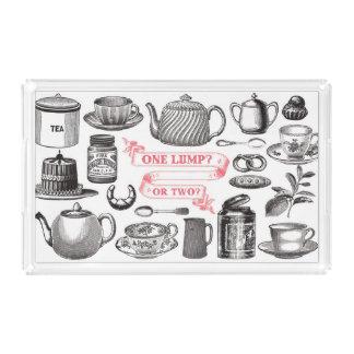 ヴィンテージの茶 アクリルトレー