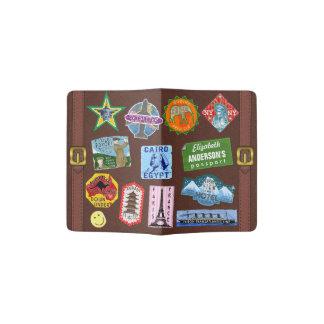 ヴィンテージの荷物の世界旅行スーツケースのステッカーの名前 パスポートカバー