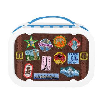 ヴィンテージの荷物の世界旅行スーツケースのステッカー ランチボックス