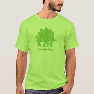 ヴィンテージの菜食主義のステゴサウルスの緑 Tシャツ