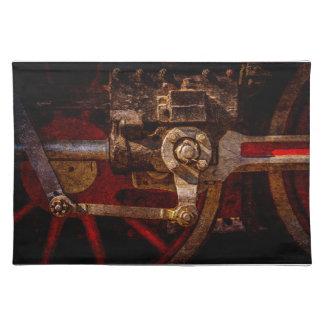 ヴィンテージの蒸気の列車のギア ランチョンマット